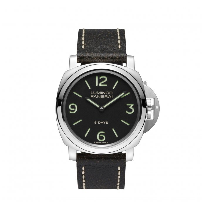 Panerai Luminor Base 8 Days Acciaio PAM00560 - watch face view