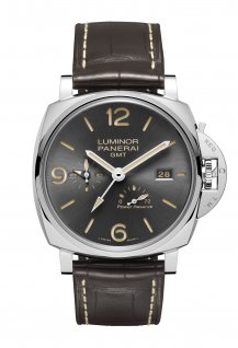 Luminor Due 3 Days GMT Power Reserve Automatic Acciaio - 45mm