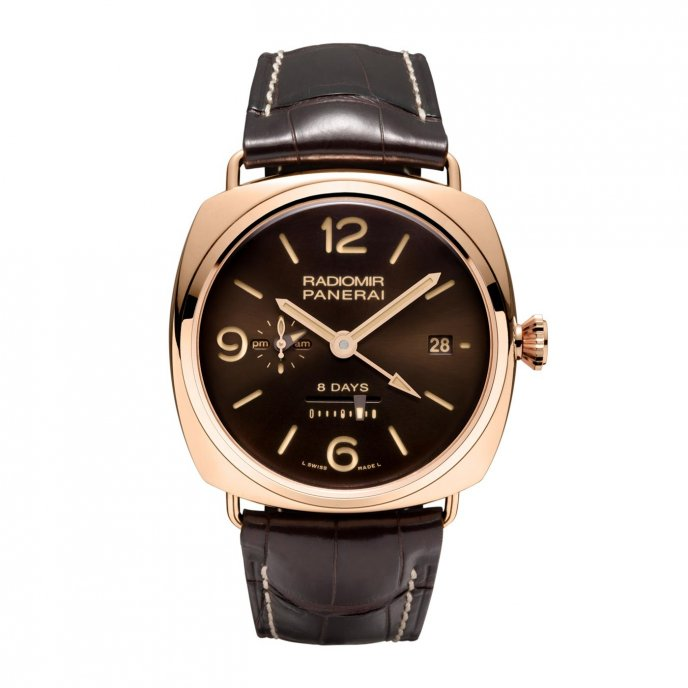 Panerai Radiomir 8 Days GMT Oro Rosse PAM0395 - watch face view