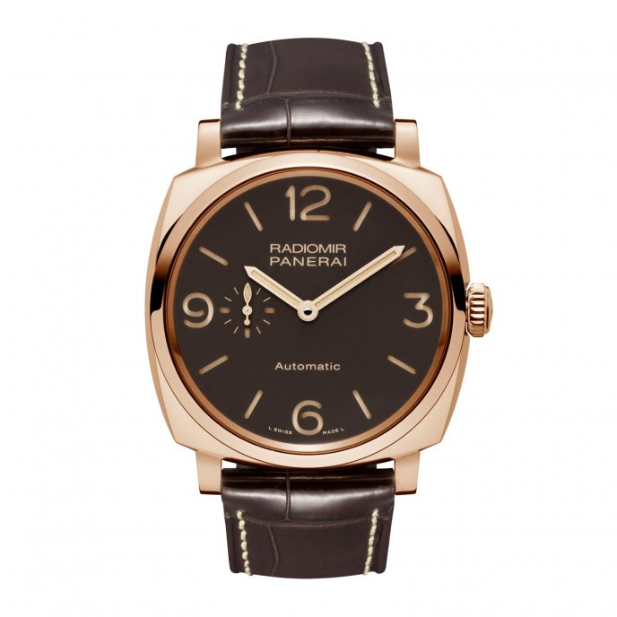 Panerai Radiomir 1940 3 Days Automatic Oro Rosso 45 mm PAM00573 watch-face-view