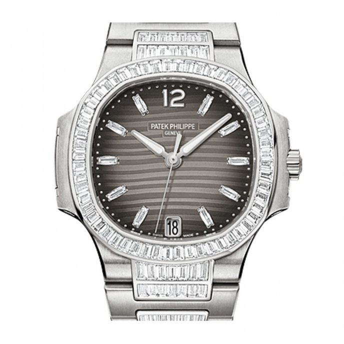 Patek-Philippe-Nautilus-Diamonds-70141G-001-or-gris-anthracite-dial-face-view