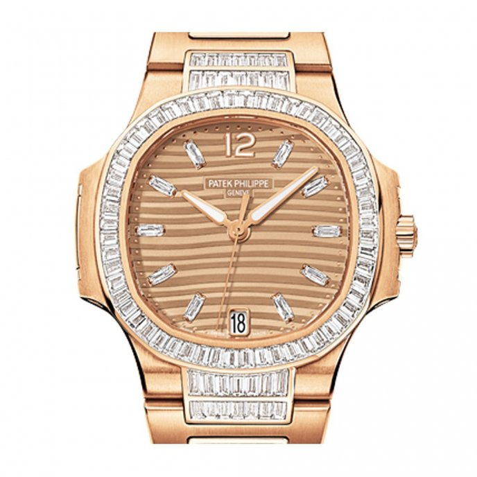 Patek-Philippe-Nautilus-Diamonds-70141R-001-or-rose-brown-dial-face-view