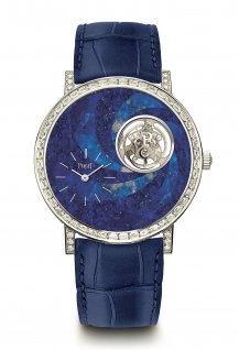 High Jewellery Altiplano lapis lazuli marquetry tourbillon
