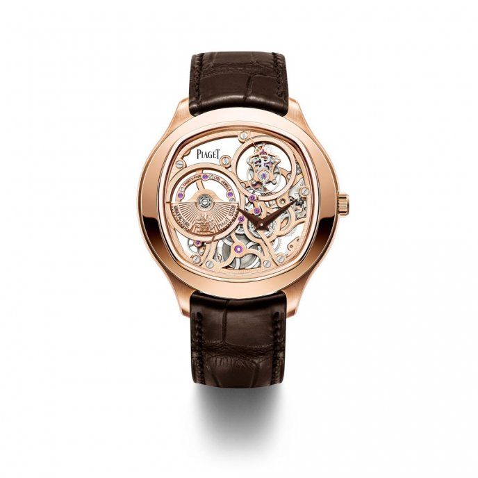 Piaget Emperador Coussin Tourbillon Squelette G0A40042 watch face view