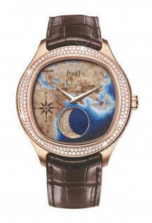 Emperador Coussin XL Large Moon Enamel Watch