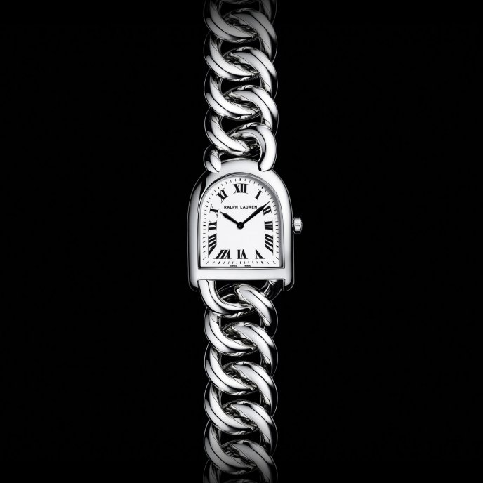 Ralp Lauren Stirrup Small Link RLR0040000 - watch face view
