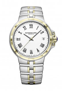 Parsifal Men's Quartz Classic Two-Tone White