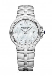 Parsifal Ladies Quartz Classic Mother-of-Pearl 8 Diamond