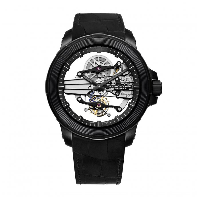 Raymond Weil Nabucco Cello Tourbillon 1842 BSF 20001 - watch face view