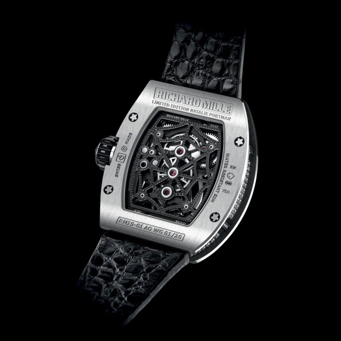 Richard Mille RM 19-01 Natalie Portman - watch back view