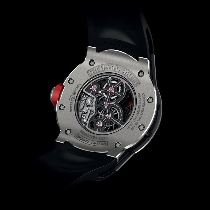 Richard Mille RM 36-01 Sebastien Loeb - watch back view
