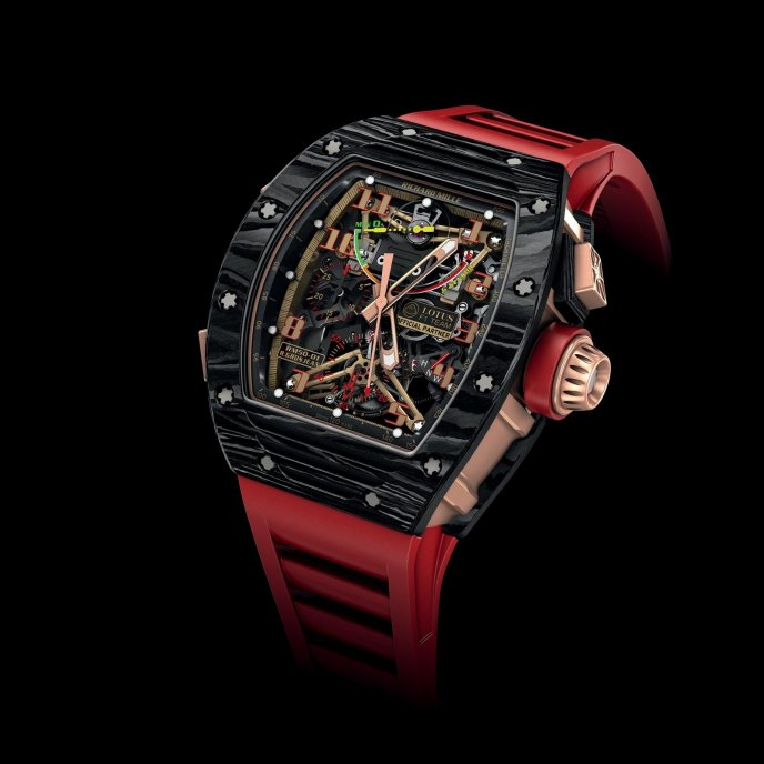 Richard Mille RM 50-01 Lotus F1 Team Romain Grosjean - watch face view