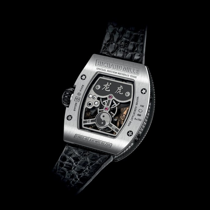 Richard Mille RM 51-01 Tourbillon Tigre et Dragon Michelle Yeoh - watch back view