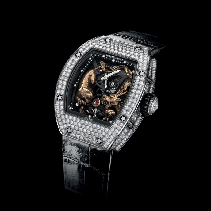 Richard Mille RM 51-01 Tourbillon Tigre et Dragon Michelle Yeoh - watch face view