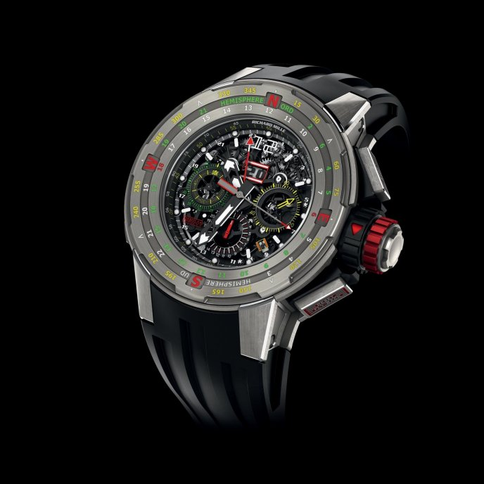Richard Mille RM 60-01 Flyback Chronograph Regatta - watch face view