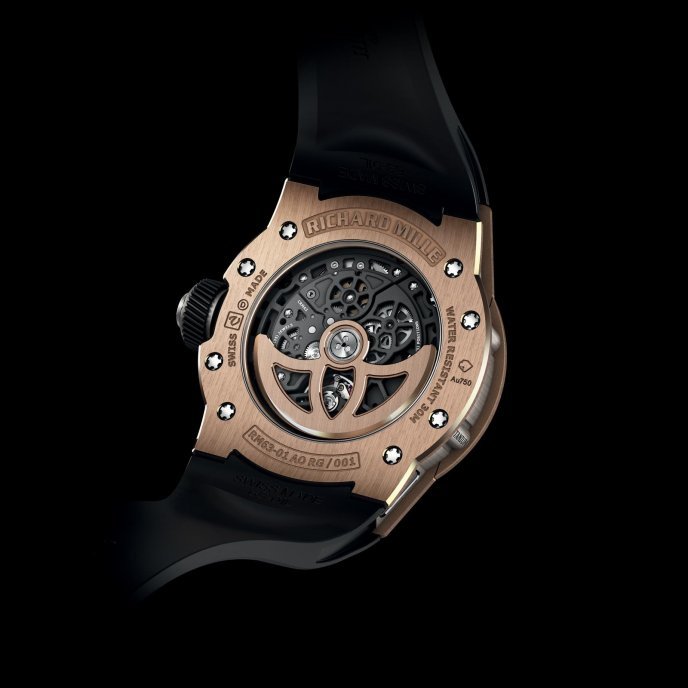 Richard Mille RM 63-01 Dizzy Hands - watch back view