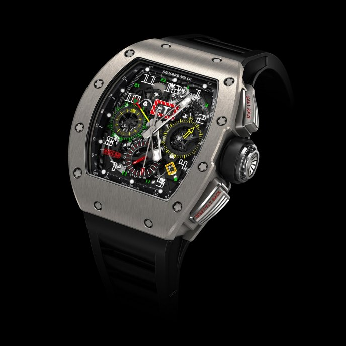Richard Mille RM11-02 Chronographe Flyback Second Fuseau Horaire Watch-face-view