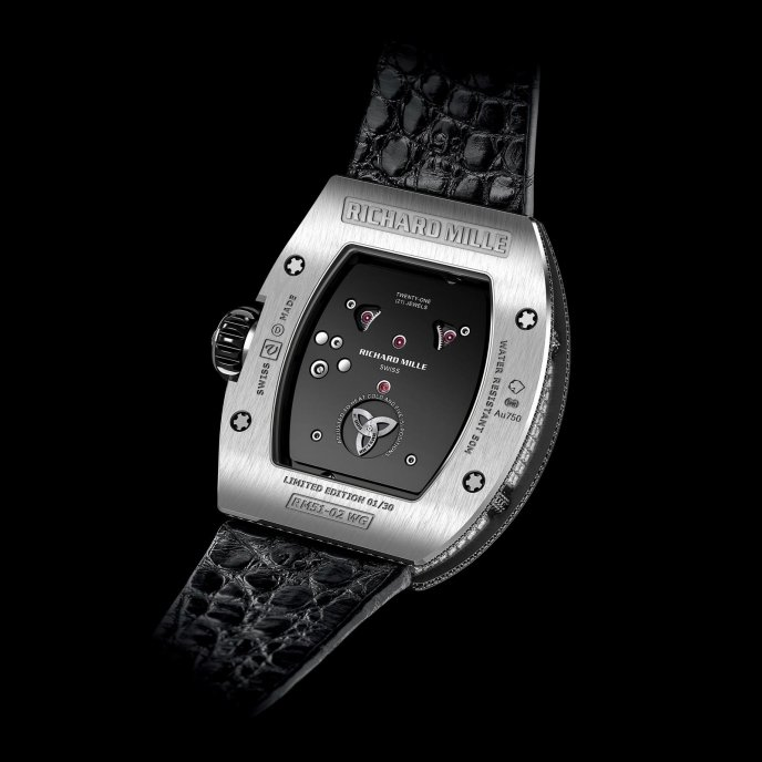 Richard Mille Tourbillon RM51-02 Diamond Twister watch face view