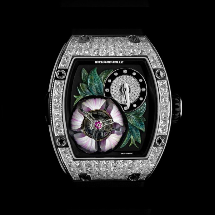Richard Mille - Tourbillon fleur - RM 19-02 - watch face view - open flower