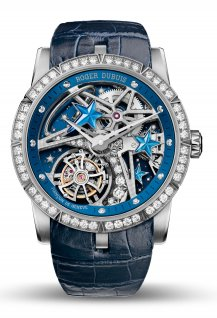 Excalibur single flying tourbillon Shooting Star Blue