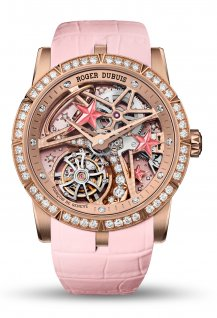 Excalibur single flying tourbillon Shooting Star Pink