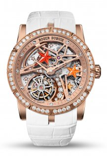 Excalibur single flying tourbillon Shooting Star White