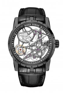 Automatic Skeleton black DLC titanium