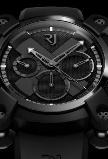 Moon Invader Black Metal Chronographe