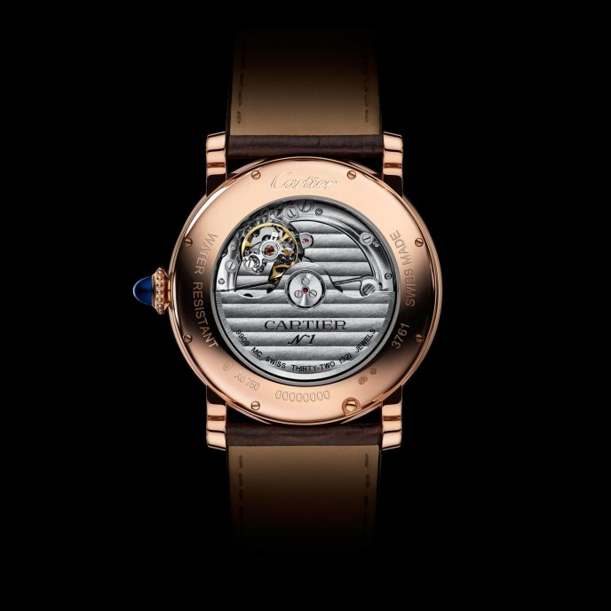 Rotonde de Cartier Annual Calendar Watch Pink Gold watch back view