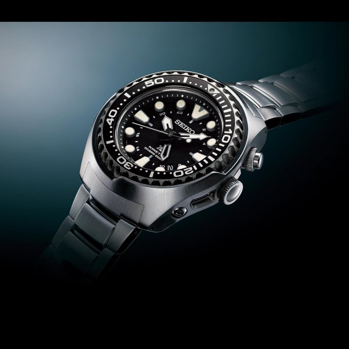 Seiko Kinetic GMT Divers SUN019 Watch-face-view