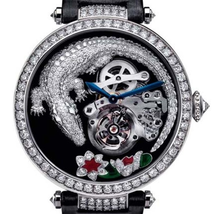 Cartier - Montre Tourbillon et Crocodile