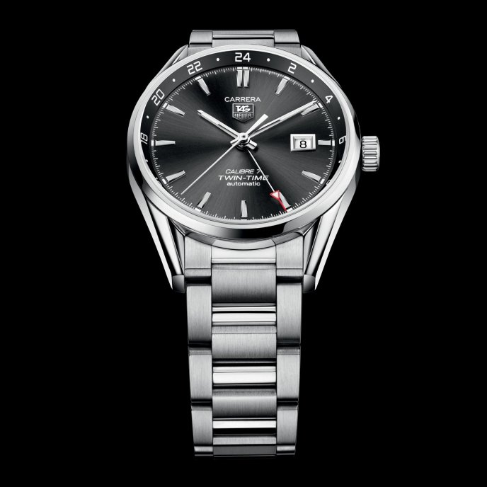 TAG Heuer Carrera Calibre 7 Twin-Time Automatic WAR2012.BA0723 - watch face view
