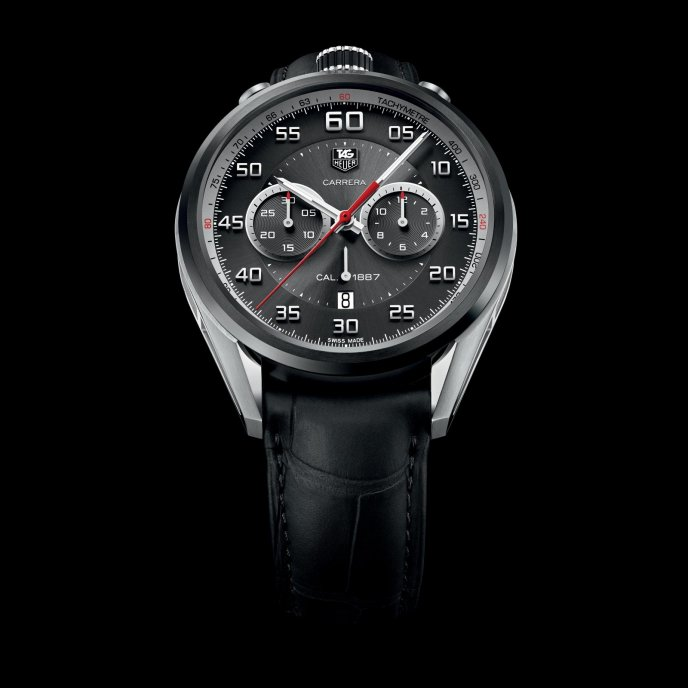 tag Heuer Carrera Dashboard 45mm Calibre 1887 Chrono Watch-face-view