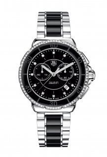 Steel and Ceramic Diamonds Chronograph 41mm