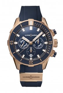 Diver Chronograph 44 MM Blue & Rose Gold