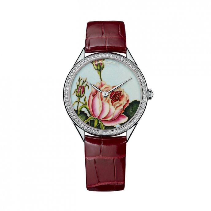 Vacheron Constantin Metiers d'Art Florilège Montre Rose Centifolia - watch face view