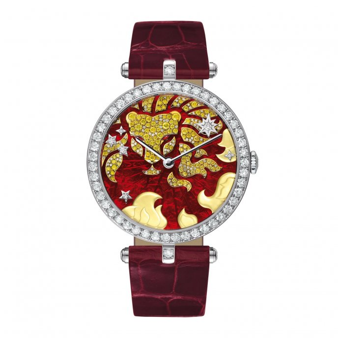 Van Cleef & Arpels Cadran Extraordinaire Lady Arpels Zodiac Leo - watch face view