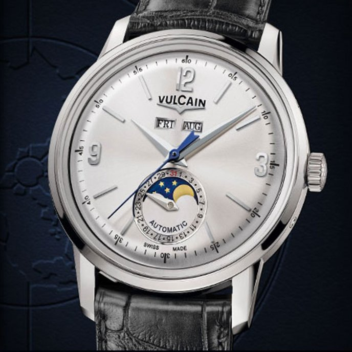 Vulcain-50s-Presidents-Moonphase-steel-580158.327L-face-view