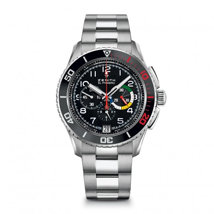 Zenith Heritage Stratos Flyback Rainbow Watch-face-view