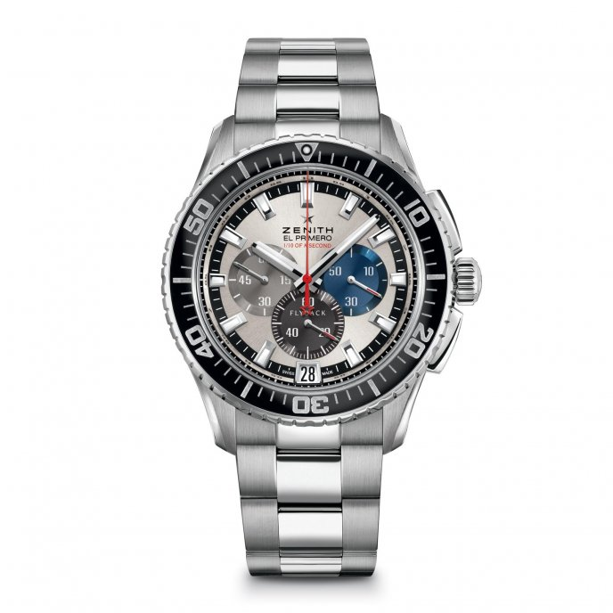 Zenith El Primero Stratos Flyback Striking 10th Tribute to Felix Baumgartner 03.2062.4057/69.M2060 - face view