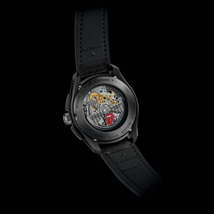 Zenith El Primero Chronomaster 1969 Tribute to The Rolling Stones - watch back view