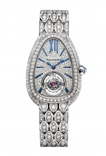 Serpenti Seddutori Tourbillon Or Blanc Full Pavée Diamants