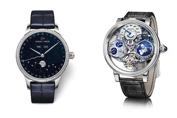 Jaquet Droz Eclipse Aventurine & Bovet Shooting Star