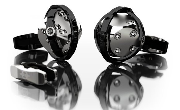 Encelade_Cufflinks_DICES_Black-PVD-rings